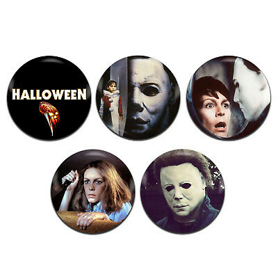 Movie Michael Myers 25mm / 1 Inch D Pin Button Badges (Halloween Movie Horror)