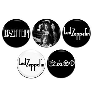 5x Led Zeppelin Band Rock 25mm / 1 Inch D Pin Button Badges