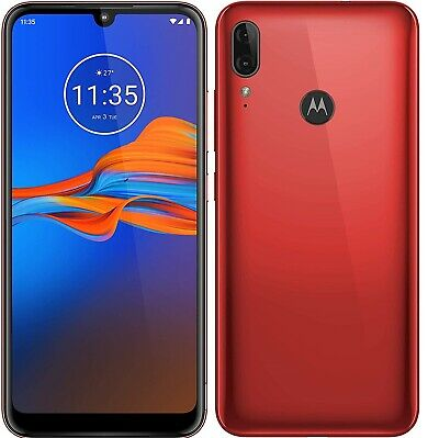 "Motorola Moto E6 Plus 4G 6.1"" Smartphone 32GB Unlocked - (Bright Cherry) B+"