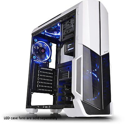 Best Computer Case Fans Included Mid Tower Desktop Gaming PC Cover Snow (Best Mid Tower Gaming Case)