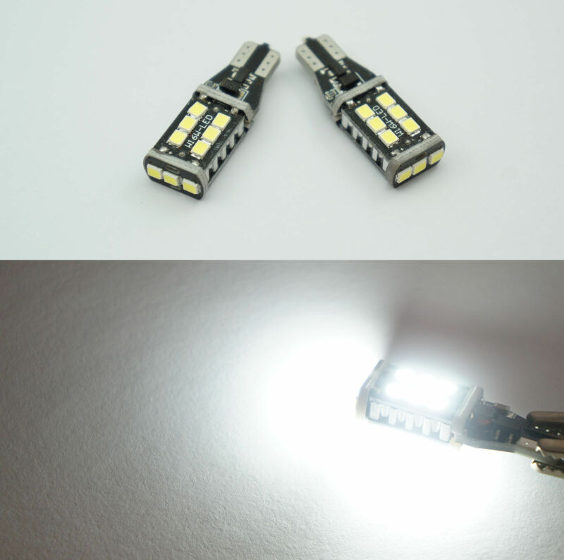 2 x T15 W16W 2835 LED SMD REVERSE Bulbs LIGHTS White BMW 5 Series F10 Saloon GR