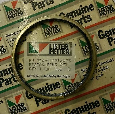 Lister Petter Piston Ring Set 0.25mm For Early Lpa2 Lpa3 Engines 750-11271025
