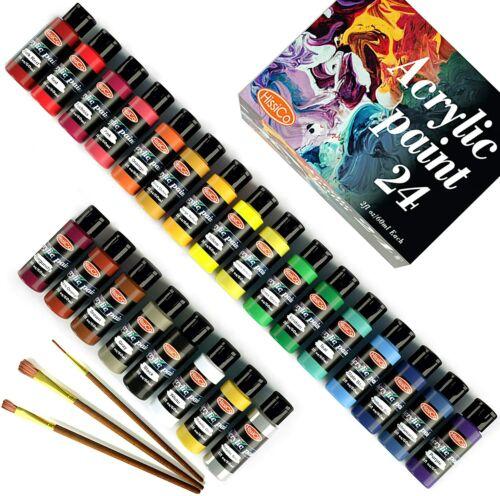 Acrylic Paint Set of 24 Colors 2fl oz 60ml bottles,Non Toxic 24 Colors