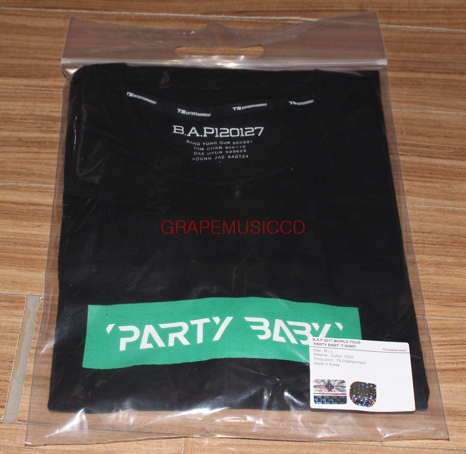 B.a.p bap 2017 world tour party baby! official goods t-shirt t-shirts l size new