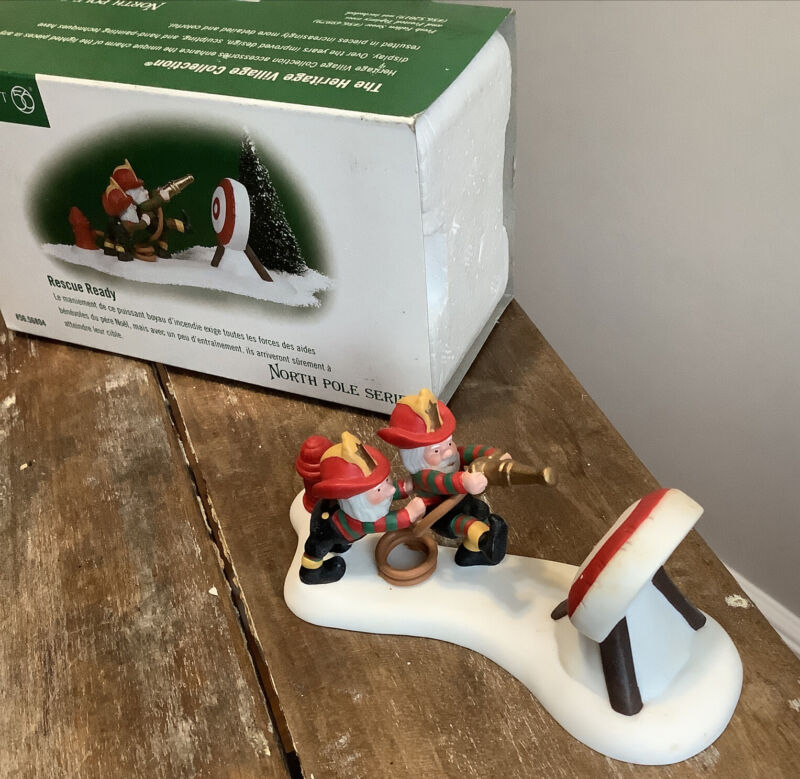 """Dept 56 North Pole Series """"Rescue Ready"""", 56804 North Pole Series Christmas"""