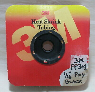 3 Feet 3m Fp301 Black Polyolefin Heat Shrinkable Tubing Shrink Tube 116 X 36