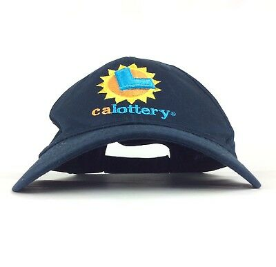 The California Lottery Calottery Logo Baseball Cap Hat Adj Adult Size Cotton
