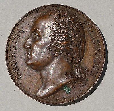 GEORGE WASHINGTON  COPPER  MEMORIAL  MEDAL  1819