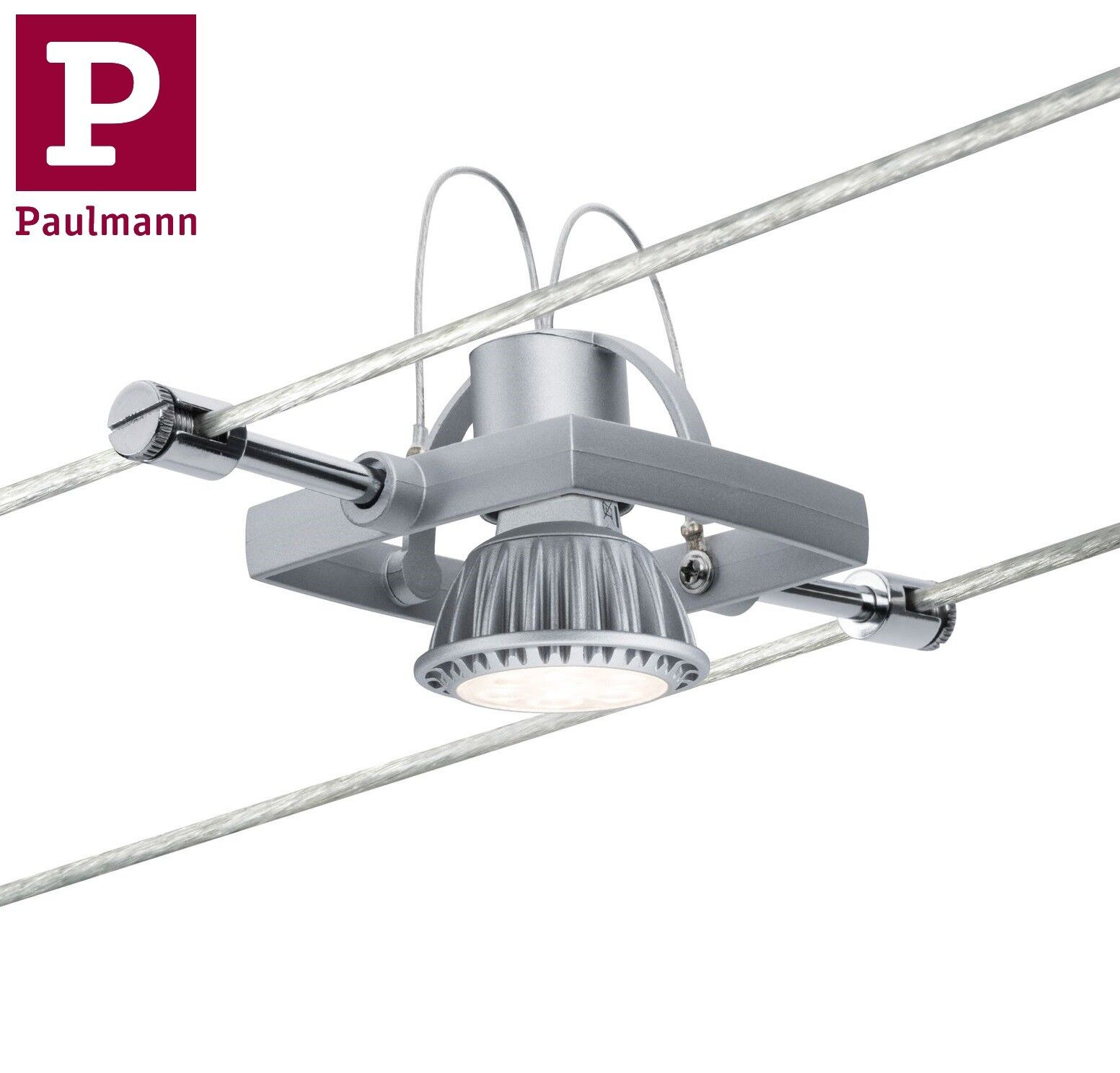 Deckenlampe Seilsystem Bürobeleuchtung LED Schienensystem SHARK mit 5 Spots