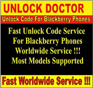 Unlock code  for Blackberry 9900 9780 9800 9700 9360 9320 8520 9300 9860 9790