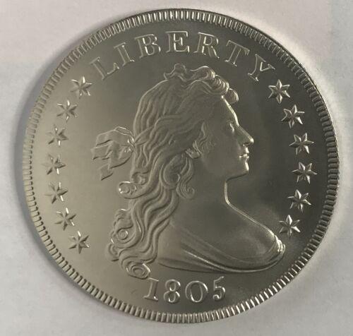 1805 Draped Bust Silver Dollar Overstrike Satin Daniel Carr - LOW Mintage /2