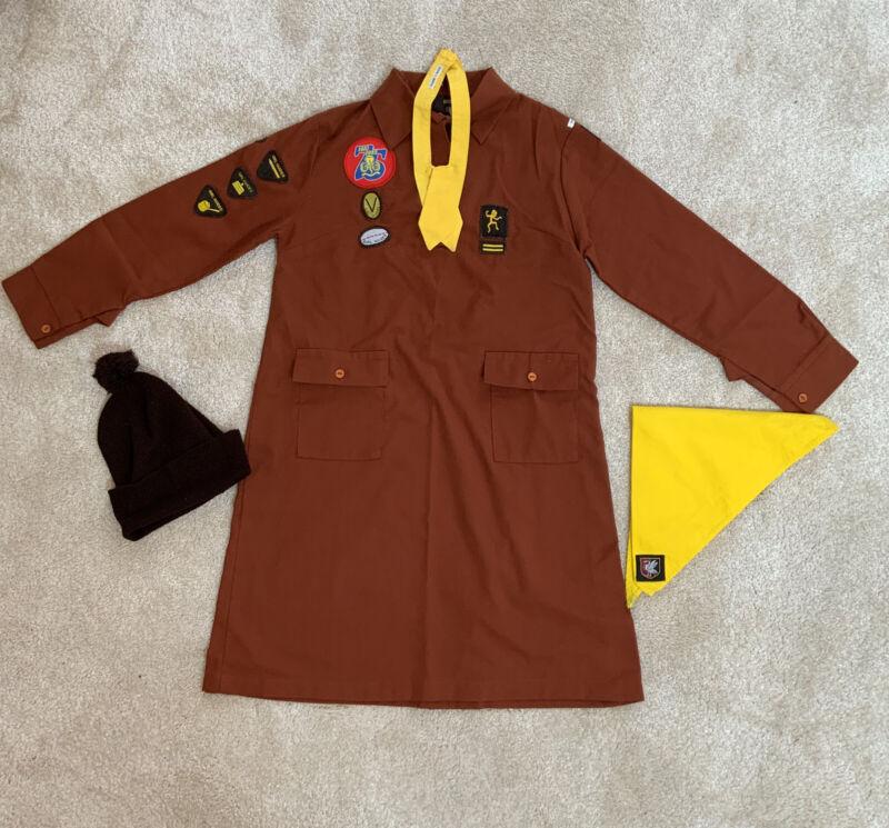 Vintage Brownie Uniform - complete with Hat badges, Scarf & neckerchief