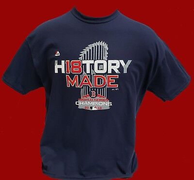 - Boston Red Sox 2018 WORLD SERIES NAVY BLUE T-SHIRT - *HISTORY MADE*