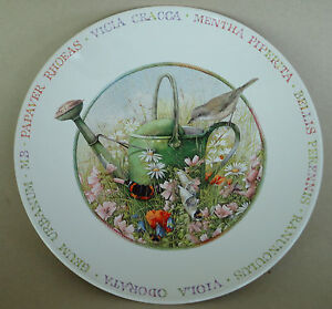 MARJOLEIN-BASTIN-Salad-Plate-Decor-Wildflower-Meadow-Watering-Can-Wren-Field