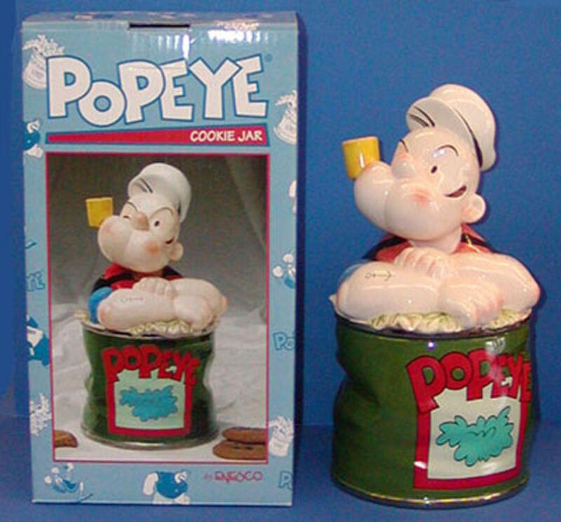 NIB Enesco Popeye Cookie Jar #686247