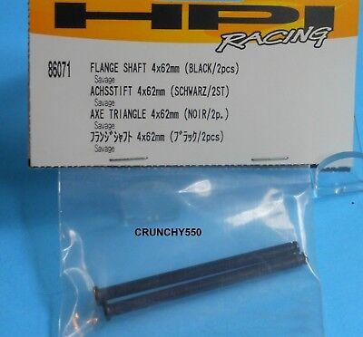 HPI Racing 86071 Savage Flange Shaft 4x62mm (Black) (2)  RC - Hpi Flange Shaft