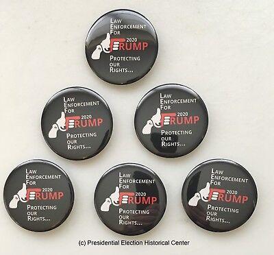Law Enforcement for Trump Campaign Button Set of 6 (GUN-001-ALL)