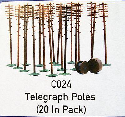 C024 DAPOL KITMASTER TELEGRAPH POLES & CABLE DRUMS  00/HO KIT