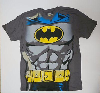 Batman Muscle Shirt ( Batman costume muscle shirt   DC comics halloween Gray Small Med L  XL     )