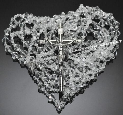 WEDDING LASSO CRYSTAL SILVER METAL CROSS LAZO DE BODA CRISTAL GLASS Bridal BODA