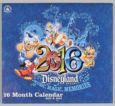 Disneyland Resort 16 Month Calendar 2015 1016 Sealed Theme Park Collectible
