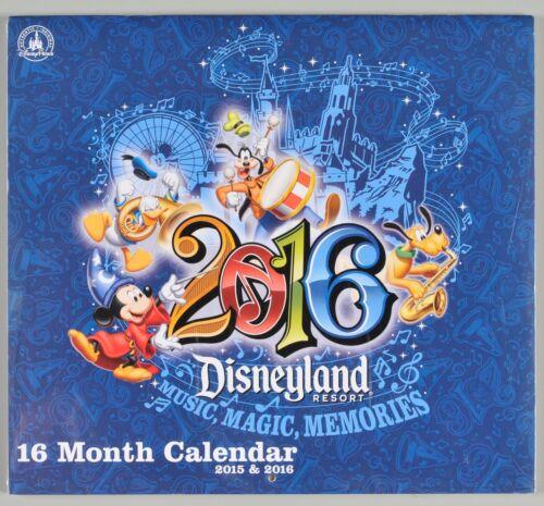 Disneyland Resort 16 Month Calendar 2015 2016 Sealed Theme Park Collectible