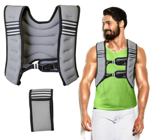 Weighted Vest for Men/Women Workout Adjustable Vest for Running - Gray (12lb)