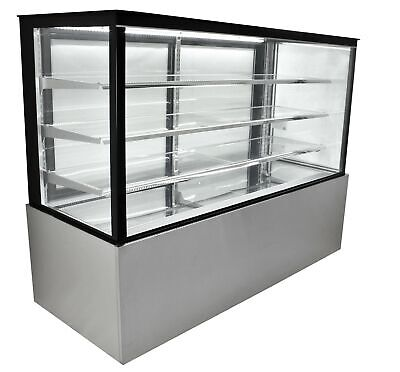 Refrigerated Glass Sided Bakery Cake Display Case - Floor Standing - 72 Wide