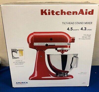 KitchenAid Ultra Power Plus 4.5 Qt Tilt Head Stand Mixer KSM96ER RED NEW