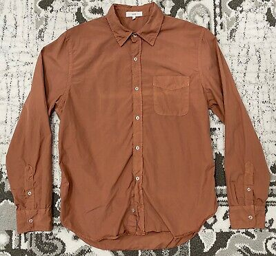 SAVE KHAKI UNITED POPLIN STANDARD SHIRT in garment dyed Wheat - Men's Large