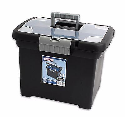 STERILITE Portable File Box Cabinet Office Organizer New