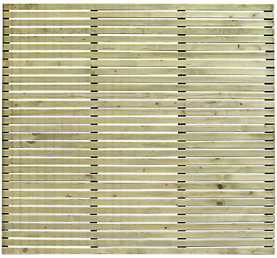 Harmony Slatted Fence Panel Green 1800×1700 PRESSURE TREATED ultra-modern