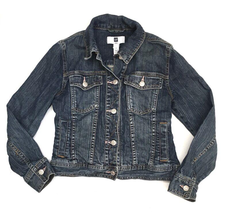 Gap Kids Girls Blue Jean Denim Trucker Jacket Size XLarge XL 12