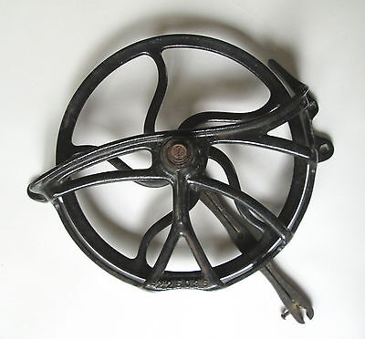 Vintage Cast Iron Pulley Treadle Sewing Machine Fly Wheel Belt Guard Steampunk