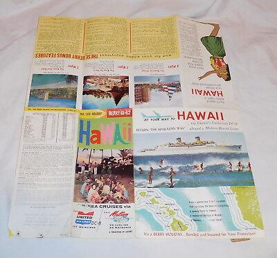 Vintage Air   Sea Berry 1961   62 Hawaii Cruises Brochure United Airlines