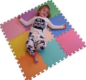 18 Piece Eva Interlocking Soft Foam Kids Baby Activity Play Mat Set Tiles Floor