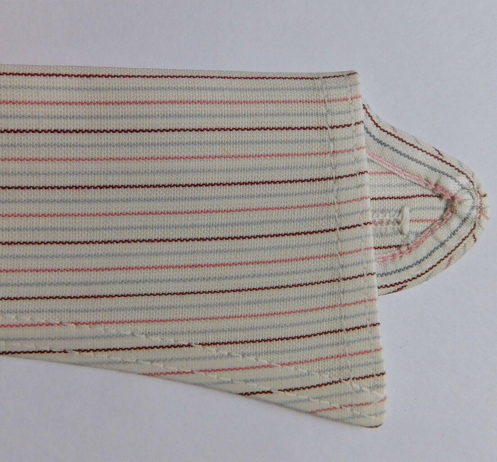 Pink red striped shirt collar size 14.5 Radiac Rex UNUSED detachable men women