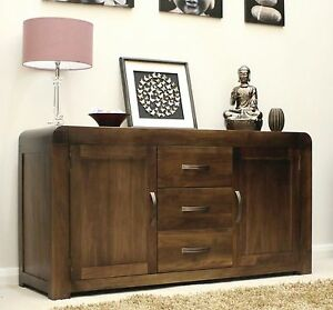 Shiro Solid Walnut Dark Wood Furniture Large Living Dining Room Sideboard EBay