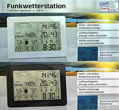 Digitale Funk Wetterstation Thermometer Luftfeuchtigkeit Farbdisplay