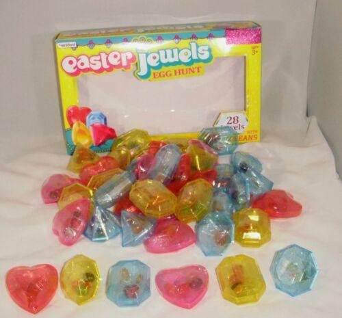 42 Easter Egg PLASTIC SURPRISE hunt in the shape of diamond, rubies, heart