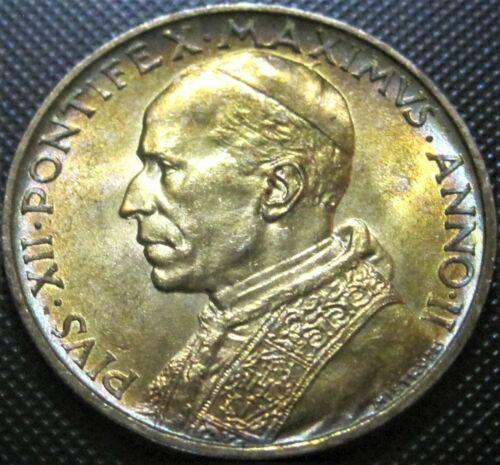 1940 Vatican City 5 Lire KM#28 - Silver Coin BU