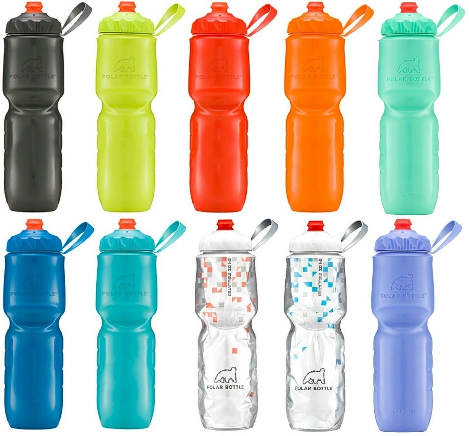 Polar Bottle 24 oz ZipStream Breakaway Insulated Squeezable Water Bottle