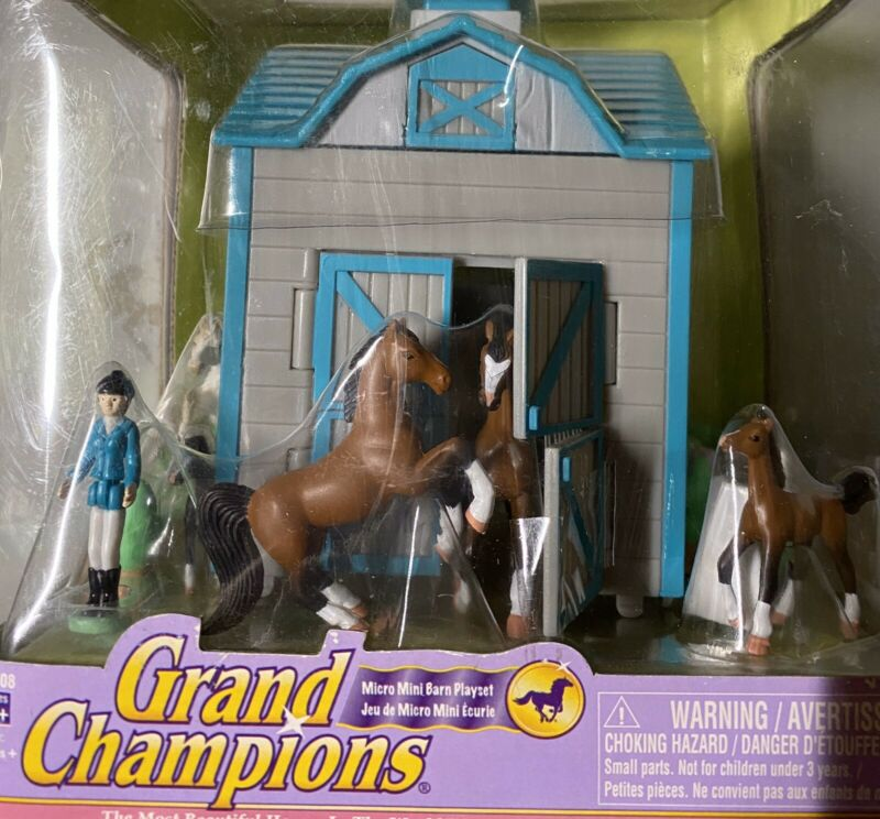 New In The Box Grand Champions Moo Mini Barn Play Set