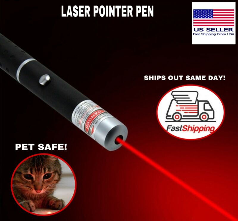 New Strong 900Mile 5 m W 532nm Red Laser Pointer Pen Visible Beam Light Lazer