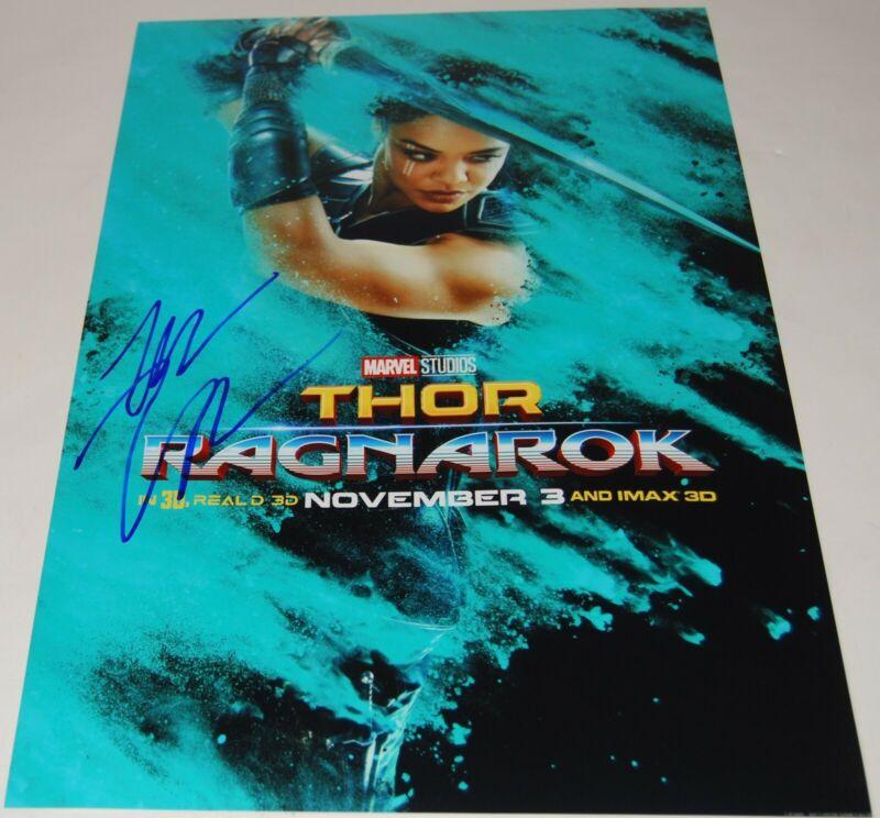 TESSA THOMPSON signed (THOR RAGNAROK) 12X18 movie poster photo VALKYRE W/COA #1
