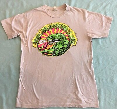 The Flaming Lips Green Lizard / Dinosaur Band T-Shirt Sz M