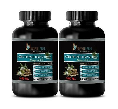 hemp oil for pain - ORGANIC HEMP SEED OIL 1400mg - hemp seed oil capsules -2 Bot
