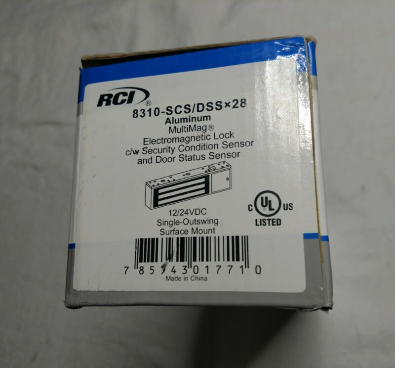 RCI Rutherford 8310-SCS/DSS x 28 MultiMag Electromagnetic Mag Lock 1200 lbs