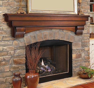 Pearl Mantel Auburn arched fireplace mantel or TV shelf. Pick size, (Fireplace Mantel Shelf)
