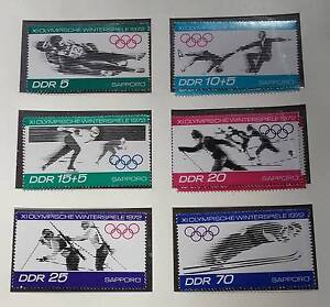 Stamps 1971 DDR Winter Olympics Katoomba Blue Mountains Preview
